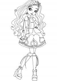 Платье, сумочка Раскраски для девочек онлайн