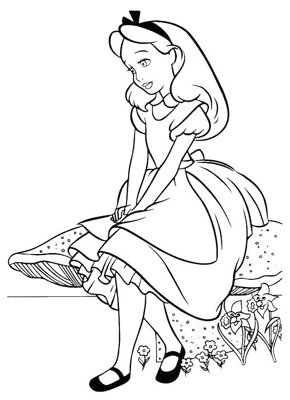 Раскраска алиса Раскраски с цветами распечатать бесплатно