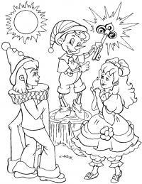 Буратино Раскраски для девочек бесплатно