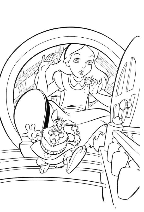 Алиса стала большой Найти раскраски цветов