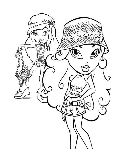 Девочки Раскраски для девочек бесплатно