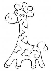 Жираф Раскраски для девочек бесплатно