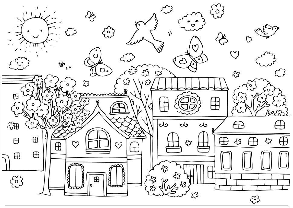 Раскраска для детей круг