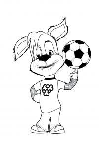 Любитель футбола Раскраски для девочек распечатать