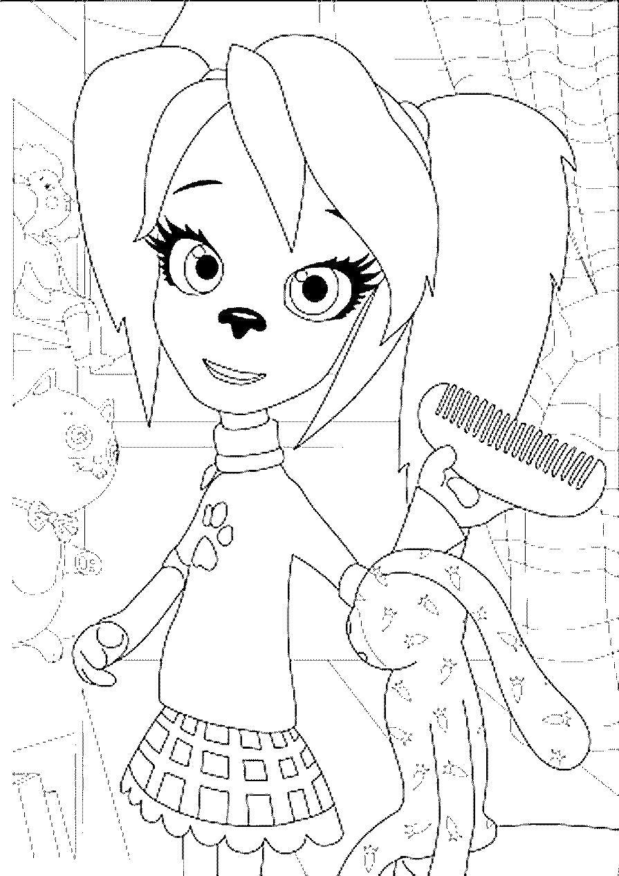 Расческа Раскраски для девочек распечатать