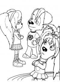 Барбоскины Раскраски для девочек распечатать