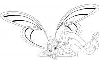 Блум с крыльями Раскраски цветочки для детей бесплатно