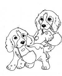 Собаки Раскраски с чудесными цветами
