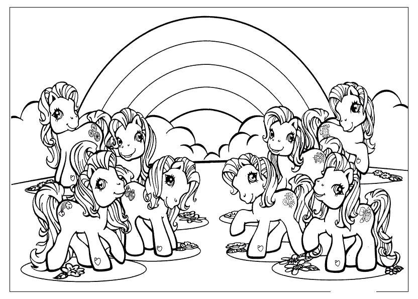 Группа понивиль Раскраски для девочек распечатать