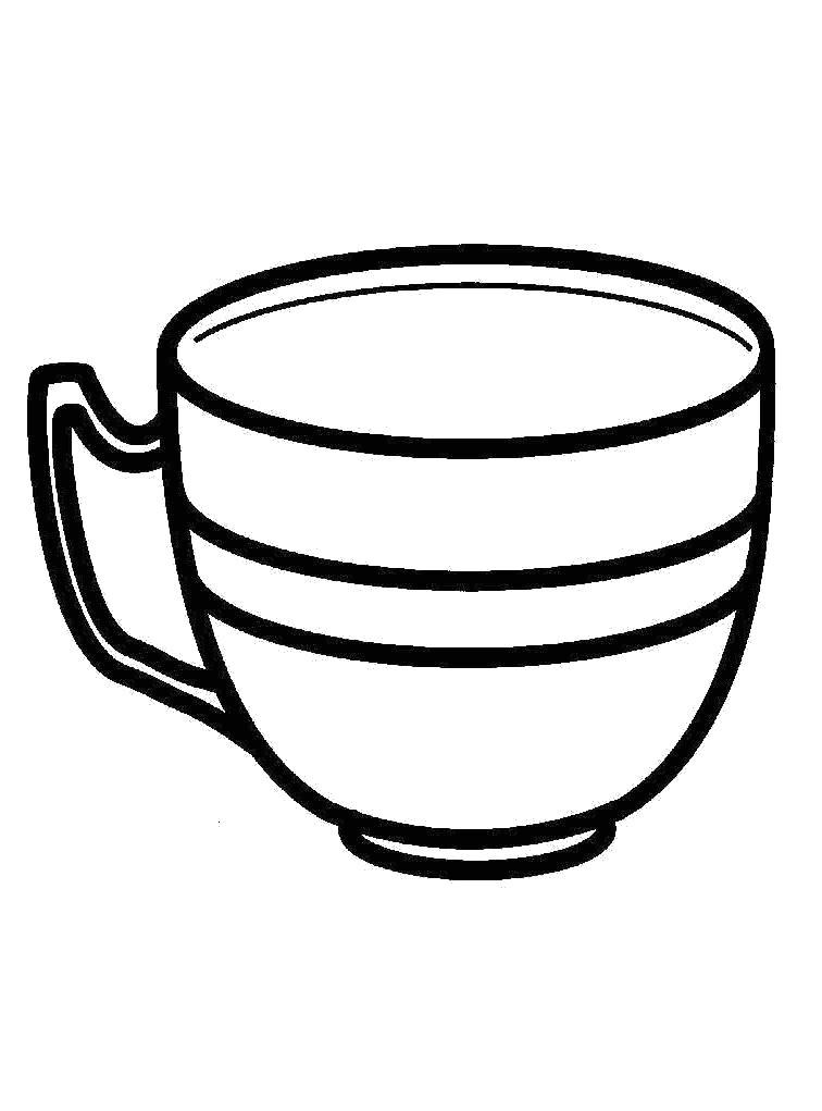 Раскраска для детей чашка