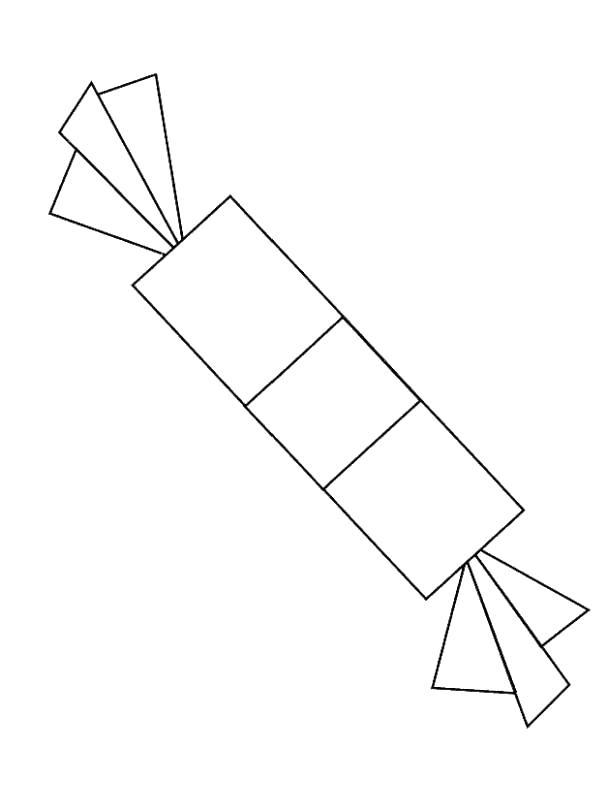 Конфетка Раскраска цветок для скачивания