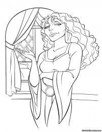 Ведьма Раскраски для девочек онлайн