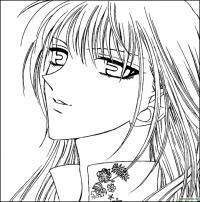 Взгляд аниме Раскраски цветочки онлайн