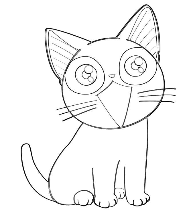 Котенок Раскраски бесплатно онлайн с цветами