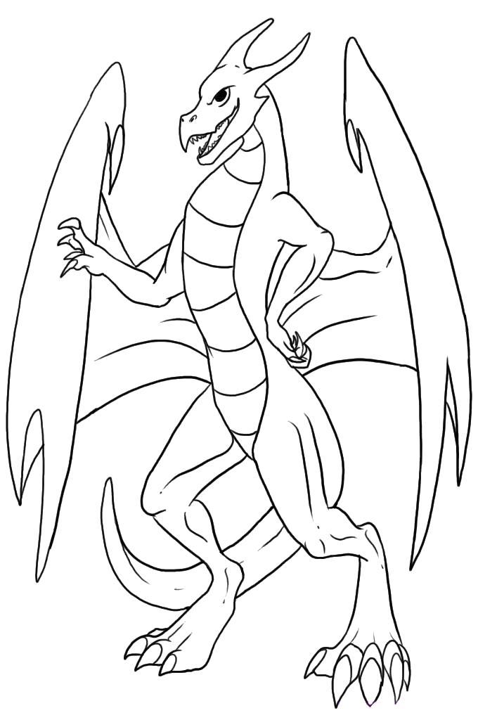 Дракон Раскраски для девочек скачать