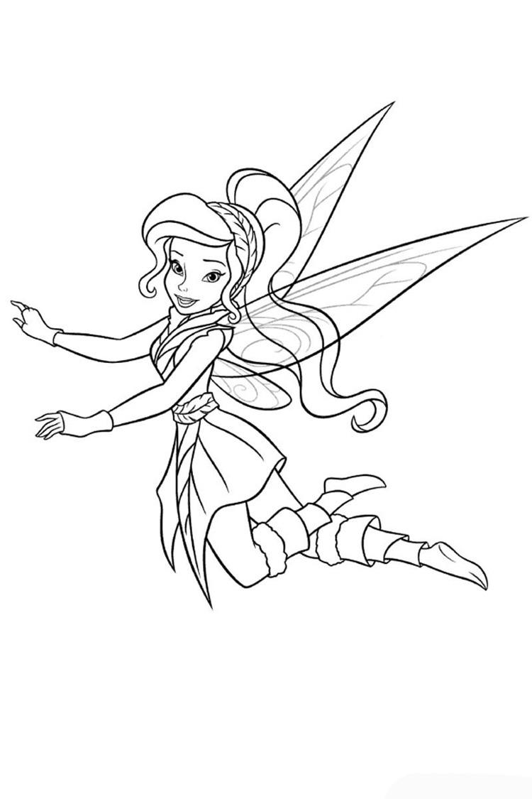 Феи летит в лес Раскраски для девочек скачать