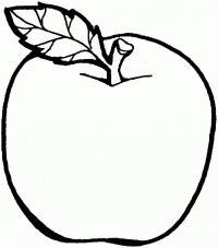 Яблоко Раскраски для девочек распечатать