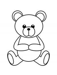 Медвежонок Раскраски для девочек распечатать