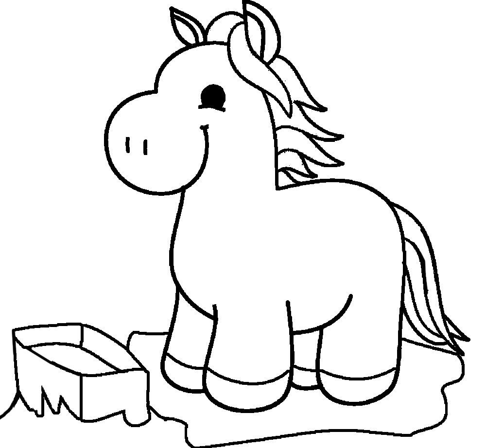 Лошадка Раскраски для девочек распечатать