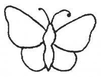 Простая бабочка Раскраски для девочек распечатать