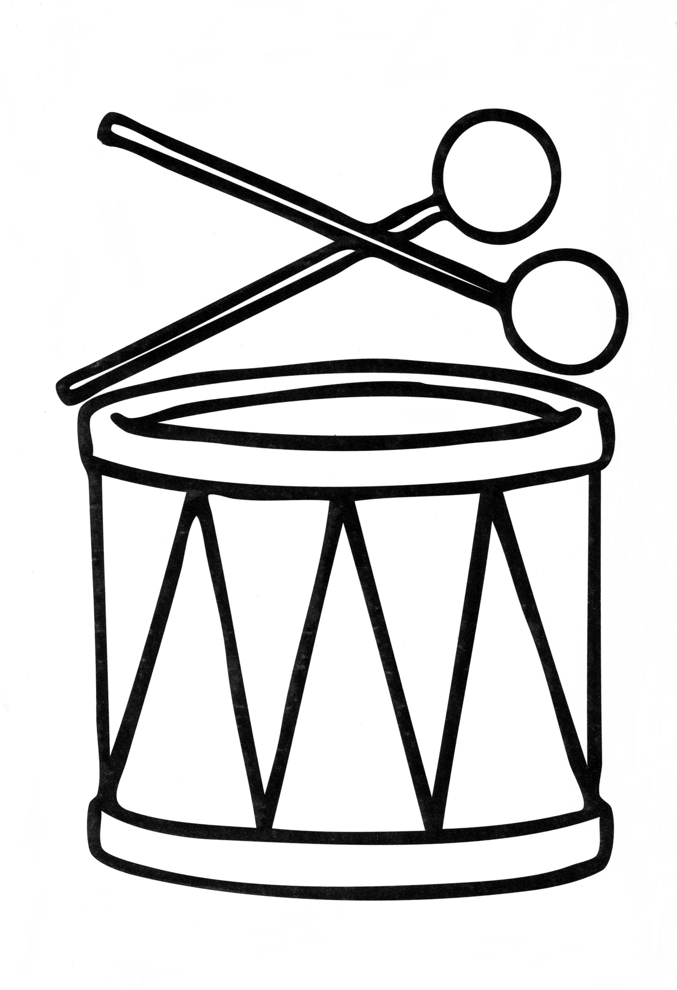 Барабан Раскраски для девочек распечатать