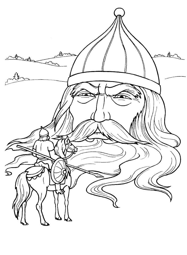 сказка о царе салтане раскраски для девочек онлайн