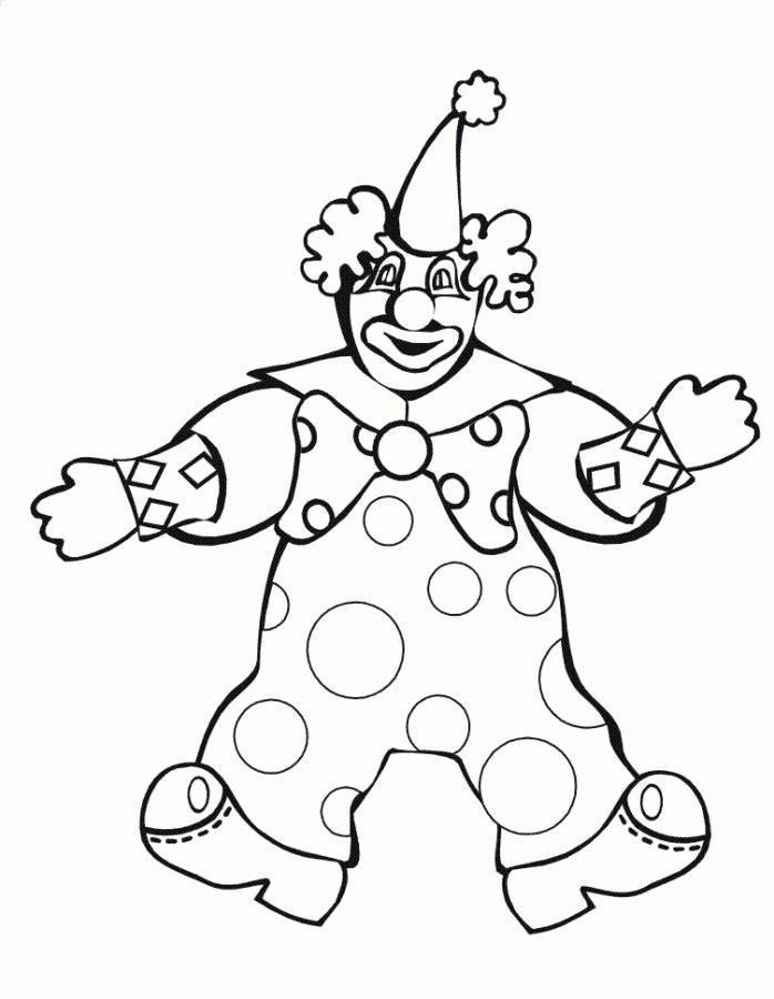Клоун Раскраски цветы для девочек
