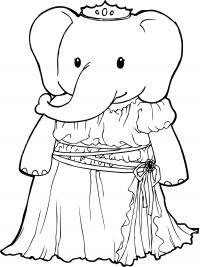 Слон Раскраски с цветами распечатать бесплатно