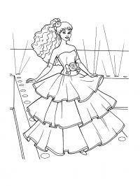 Барби на балу Раскраски для девочек бесплатно