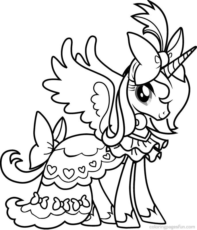 Пони в платье раскраска