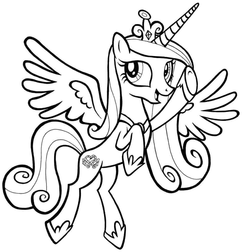 Пони девочки принцессы раскраски 7