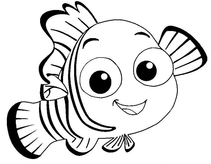 Рыбка Раскраски для девочек бесплатно