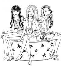 Барби куклы Раскраски для девочек бесплатно