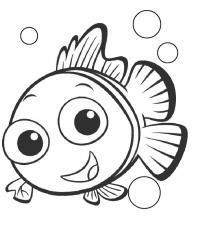 Рыбка нэмо Скачать новые раскраски цветы