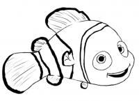 Симпатичная рыбка Раскраски для девочек распечатать