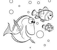 Три рыбки Скачать новые раскраски цветы