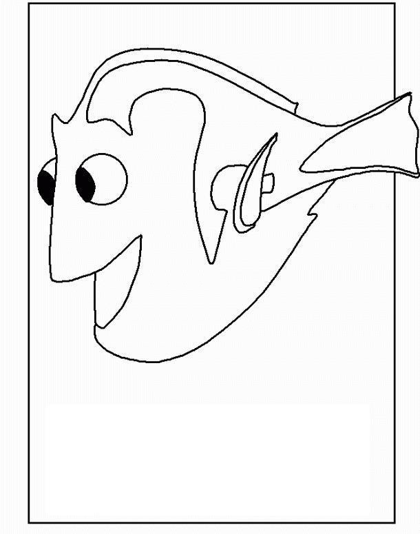 Рыбка дори Раскраски для девочек распечатать
