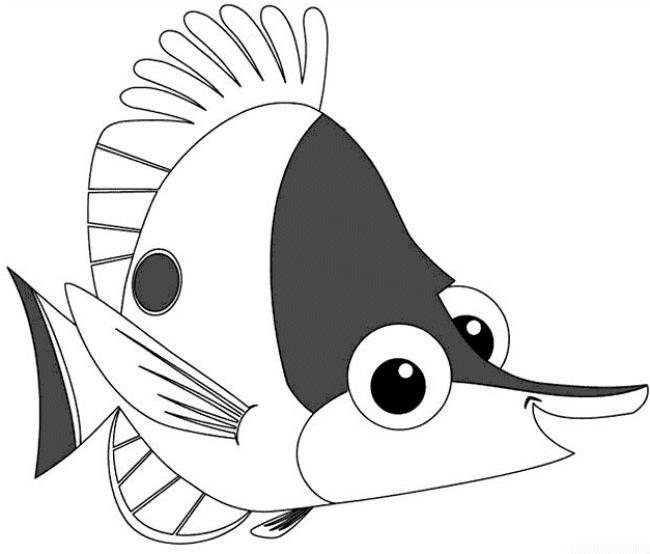 Рыбка из мультфильма в поисках нэмо Раскраски для девочек распечатать