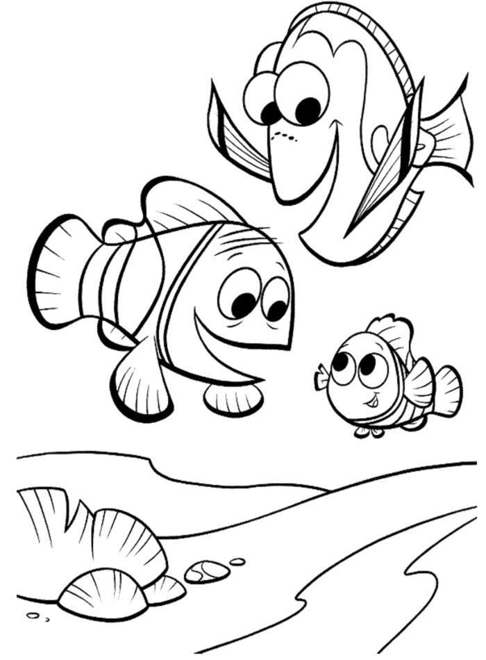Рыбки Раскраски для девочек распечатать