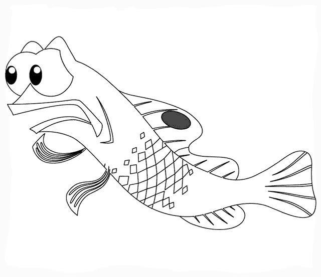 Длинная рыбка Раскраски для девочек распечатать