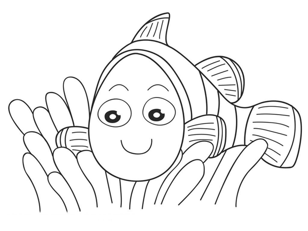 Рыбка в водорослях Раскраски для девочек распечатать