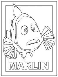 Мэрлин Раскраски для девочек распечатать