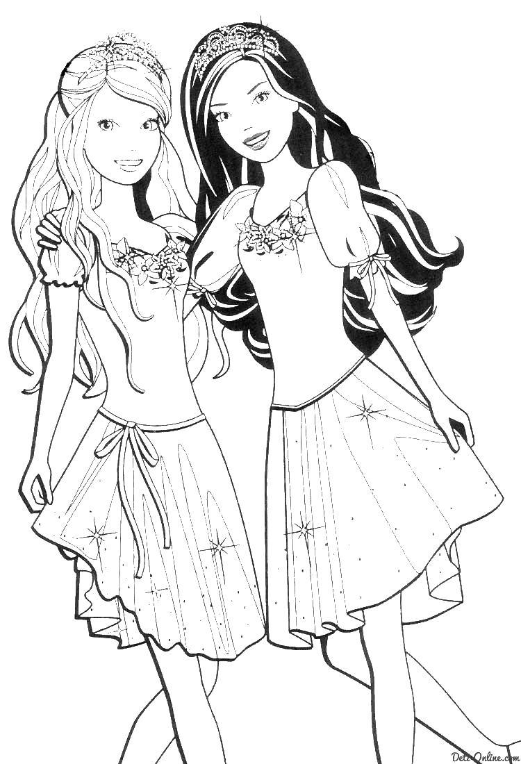 Барби из мульта Раскраски для девочек бесплатно