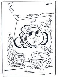 Нэмо в аквариуме Раскраски для девочек распечатать