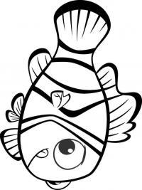 Рыбка клоун Раскраски для девочек распечатать