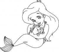 Детство русалочки Раскраски с цветами распечатать бесплатно