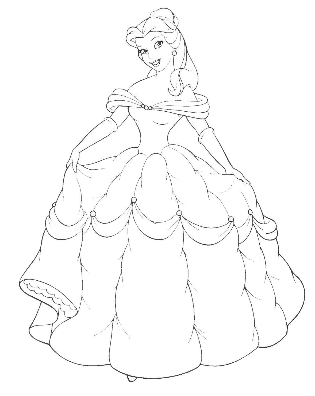 принцесса в бальном платье раскраски цветов бесплатно