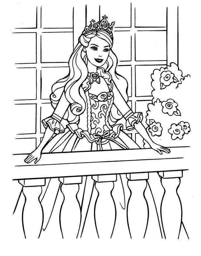 Раскраски принцессы с животными распечатать