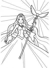 Принцесса Раскраски с цветами распечатать бесплатно