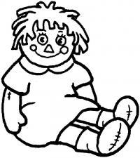Простая кукла Раскраски для девочек онлайн